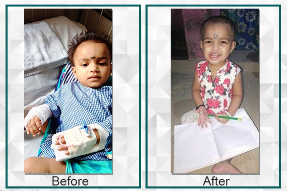 Pranjal's parents are happy after all the funds were raised for Pranjal's surgery