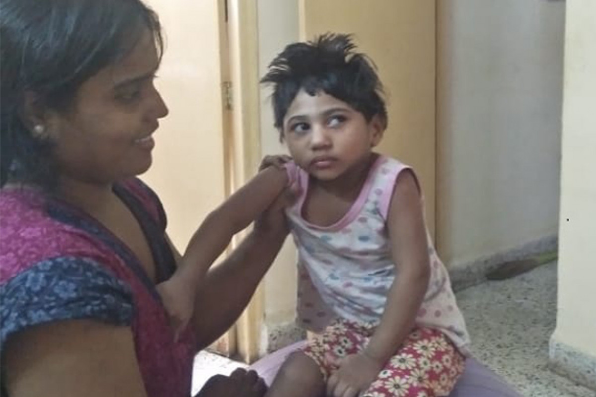 Please help Vedika, a 3-year-old girl suffering from Dystonic Quadriplegic cerebral palsy